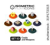 isometric flat icons  3d... | Shutterstock .eps vector #319172315