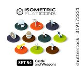 isometric flat icons  3d... | Shutterstock .eps vector #319172321