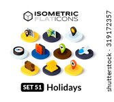 isometric flat icons  3d... | Shutterstock .eps vector #319172357