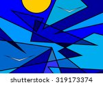 blue abstract sky  sun and... | Shutterstock .eps vector #319173374
