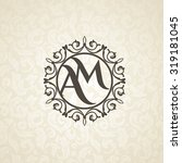 modern monogram  emblem  logo... | Shutterstock .eps vector #319181045