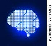 human digital pixel brain... | Shutterstock .eps vector #319183571
