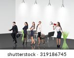 several business people stand...   Shutterstock . vector #319186745