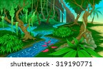 view in the jungle. vector... | Shutterstock .eps vector #319190771