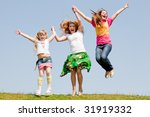 happy mother and two daughter...   Shutterstock . vector #31919332