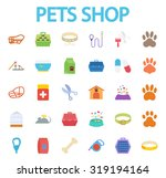 Stock vector pets shop icons set flat vector related icon set for web and mobile applications it can be used 319194164