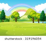 nature scene of a park with... | Shutterstock .eps vector #319196054
