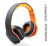 modern headphones isolated on... | Shutterstock . vector #319199417