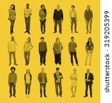 diverse people happiness... | Shutterstock . vector #319205399