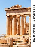 the doric temple parthenon at... | Shutterstock . vector #319206641