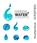 set of abstract eco water icons ... | Shutterstock .eps vector #319207601