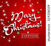 merry christmas white letters... | Shutterstock . vector #319208339