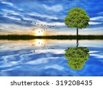 reflections on the lake | Shutterstock . vector #319208435