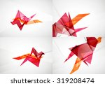 set of angle and straight lines ... | Shutterstock . vector #319208474