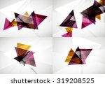 set of angle and straight lines ... | Shutterstock . vector #319208525