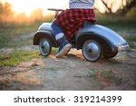 toddler have journey by vintage ... | Shutterstock . vector #319214399