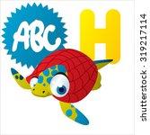 cute cartoon water dinosaurs... | Shutterstock .eps vector #319217114