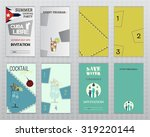 set of flyer layout templates.... | Shutterstock . vector #319220144