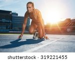 fit and confident woman in... | Shutterstock . vector #319221455