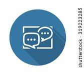 discussion board icon. business ...
