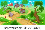 view on the countryside. vector ... | Shutterstock .eps vector #319225391