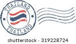 postal grunge stamp 'thailand'   Shutterstock .eps vector #319228724
