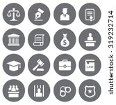 law icons set | Shutterstock .eps vector #319232714