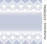 seamless lace pattern  flower... | Shutterstock .eps vector #319234061