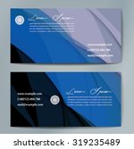 stylish business cards with... | Shutterstock .eps vector #319235489