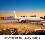 cargo plane loading for... | Shutterstock . vector #319240841