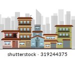 town homes | Shutterstock .eps vector #319244375