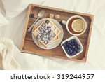breakfast in bed   tray with...   Shutterstock . vector #319244957