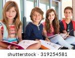 group of happy little school... | Shutterstock . vector #319254581