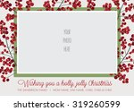 Holly Frame Photo Christmas ...