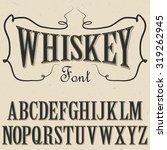 whiskey font with dusty... | Shutterstock .eps vector #319262945