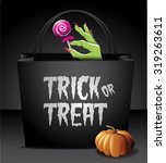 trick or treat halloween bag... | Shutterstock .eps vector #319263611