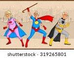 retro style comics superhero... | Shutterstock .eps vector #319265801