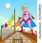 retro style comics superhero...   Shutterstock .eps vector #319265855