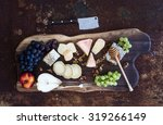 wine appetizers set  french... | Shutterstock . vector #319266149