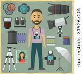 photography character flat... | Shutterstock .eps vector #319267505