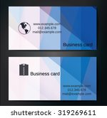 stylish business cards with... | Shutterstock .eps vector #319269611