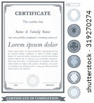 gray vertical certificate... | Shutterstock .eps vector #319270274