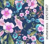 beautiful floral seamless... | Shutterstock . vector #319273817