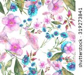 beautiful floral seamless... | Shutterstock . vector #319273841