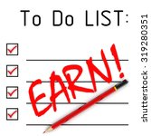 earn  to do list. red pencil... | Shutterstock . vector #319280351