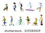 sport characters  | Shutterstock .eps vector #319283429