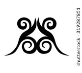 tribal tattoo vector design... | Shutterstock .eps vector #319287851