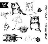 vector sketches set of cat... | Shutterstock .eps vector #319288061