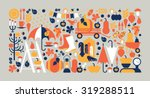 horizontal composition with... | Shutterstock .eps vector #319288511