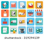 vector set of ecommerce and... | Shutterstock .eps vector #319294139